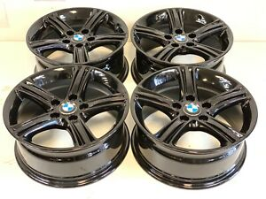 4 07 19 Bmw 320i 328i 335i 428i Oem Factory 17 Wheels Rims 6796242 Gloss Blac