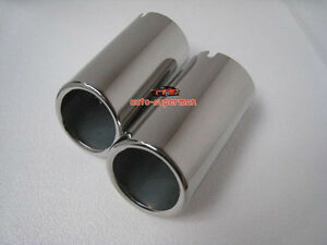 Chrome Exhaust Muffler Tip Pipe For Bmw X1 Xdrive 25 E84 2010 2011 2012