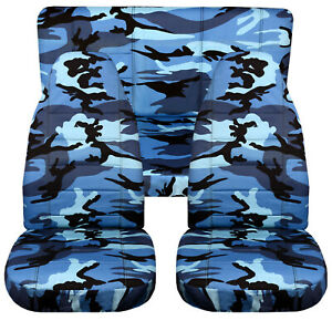 Full Set Front Rear Urban Camo Blue Car Seat Covers Fits 1989 1998geo Tracker