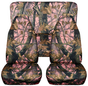 Full Set Front Rear Camo Pink Tree Car Seat Covers Fits 1989 1998geo Tracker
