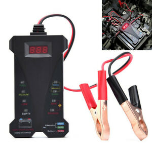 12v Lcd Display Digital Battery Tester Voltmeter And Charging System Analyzer Us