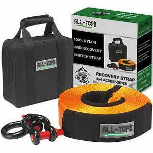All Top Nylon Heavy Duty Tow Strap Recovery Strap Kit 3 Inch X 30 Ft 32 000 L