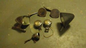 Vintage Side View Mirrors Back Up Lights Grab Pile Ford Mustang 1932