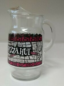 Vintage Retro PIZZA HUT Coca-Cola Glass Pitcher