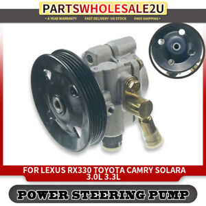Power Steering Pump W Pulley For Toyota Solara 04 08 Camry 02 06 V6 3 0l 3 3l