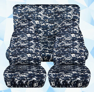 Full Set Front Rear Digital Camo Navy Car Seat Covers Fits 1989 1998 Geo Tracker