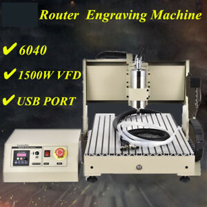 1500w Usb 4axis Cnc Router 6040 Engraver Machine Mill Metal Woodworking 3d Carve