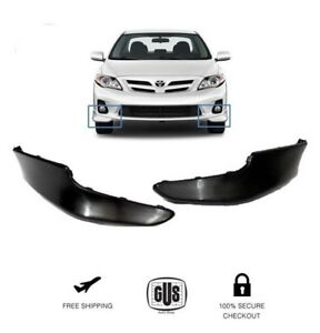 For Toyota Corolla S 2011 2012 2013 Front Bumper Lips Body Kit 2pcs