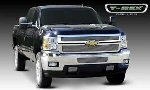 T rex 2011 2014 Chevy Silverado Hd Billet Grille Polished 2 Pc Overlay