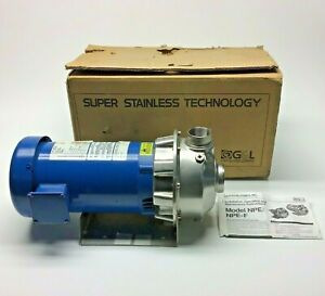 New Goulds 3st1h5b4 Centrifugal Pump W Motor 3hp Stainless Steel Pump 3 phase