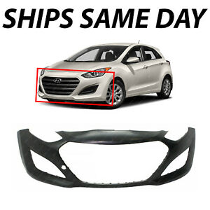 New Primered Front Bumper Cover Replacement For 2013 2017 Hyundai Elantra Gt