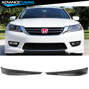 Fits 13 15 Honda Accord Hfp Style Front Bumper Lip Underbody Pair Unpainted Pp