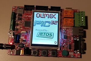 Olimex Pic32 maxi web Development Board With 12volt Adapter