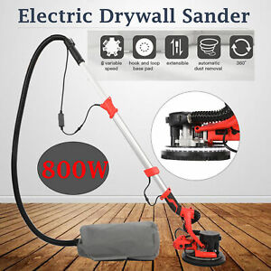 Commercial Electric Drywall Sander Adjustable 6 Speed W Light Bar Sand Pad 800w