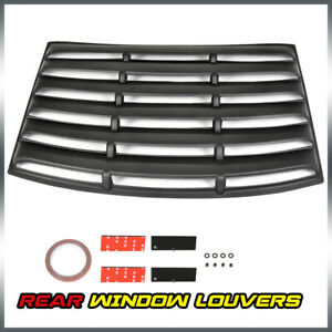 1pc Abs Rear Window Louvers Unpainted Fits For 2010 2015 Chevrolet Camaro