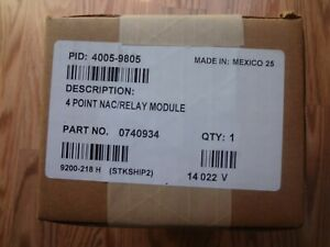 Brand New Simplex 4005 9805 4 Point Nac relay Module Part No 0740934