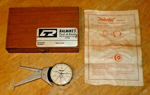 Intertest 75 Inside Dial Caliper 2 0 2 8 001 W Wood Case Made In Germany