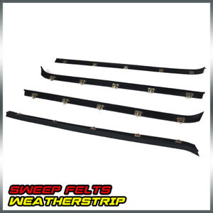 Outer Front Rear Window Sweep Weatherstrip Seal Set For Chevy Gmc Pickup Truck