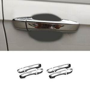Abs Chrome Door Handle Cover Decorative Trim 8pcs For Volkswagen Polo Mk6 18 20