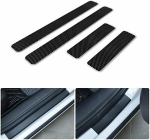3d Carbon Fiber Car Door Sill Protectors Sticker White For Kia Soul