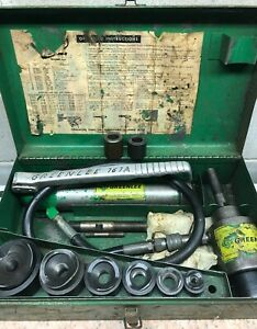Greenlee 7306 Hydraulic Knockout Driver Metal Punch Set 1 2 To 2 Conduit