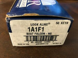 50 Jet Silver Line 1a1f1 ns Key Blanks Ilco A1114f Fit Best F Keyway Duplicati
