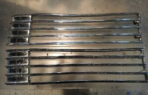 1940 Cadillac Hood Side Grill Vents Louvers Pair R l Rechromed Oem