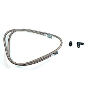 Squirrelly 48 Oil Feed Line Kit 1 8 Npt To 4an For Precision Turbo T3 T4