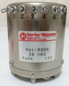 Dow key Microwave 461 5308 Coaxial Switch 28 Vdc 50 Ohm Sma Female Qty 1