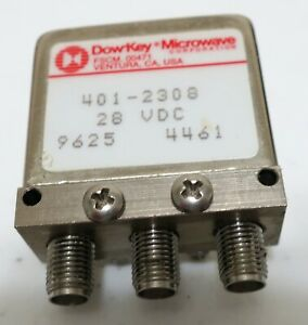 Dow key Microwave 401 2308 Coaxial Switch 28 Vdc