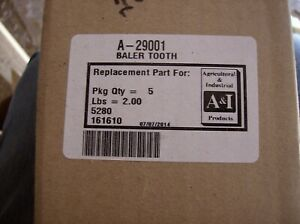 29001 Vermeer Round Baler Tooth Lot Of 5