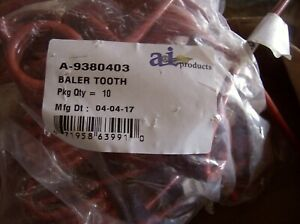 9380403 Krone M w Round Baler Tooth Lot Of 5