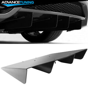 Universal Rear Diffuser Assembly Cover 22x20 In Unpainted Abs Plastic