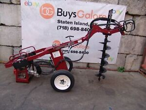 General 660 Tow Behind Hydraulic One Man Auger Honda Motor Post Hole Digger Nice