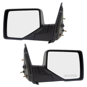 Pair Side Manual Mirrors Fits 06 11 Ford Ranger Pickup Truck Textured Set