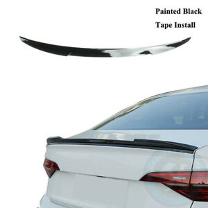 Blade Style Painted Black Rear Trunk Lip Spoiler Fit For Vw Jetta Mk7 Gli 2019