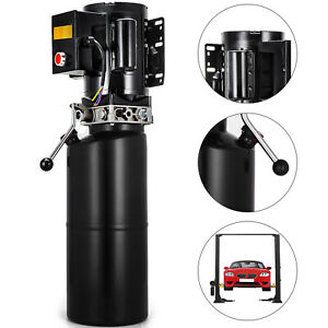 110v Car Lift Hydraulic Power Unit Auto Lifts 2 64gal Dump Trailer Auto Repair