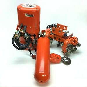Cm E2 Chain Hoist 1 2 Ton Lodestar Overhead Crane 36 Ft Of Chain Manual Trolley