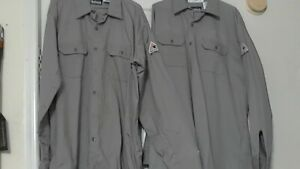 Bulwark Flame resistant Safety Work Shirts Xl rg Lot Of 3 Gray Pre owned