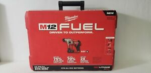 Milwaukee M12 Fuel 12 volt Ion 5 8 In Brushless Cordless Rotary Hammer Kit