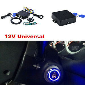 Car Suv Alarm System Engine Starter Button 2 Rfid Key Keyless Entry Security