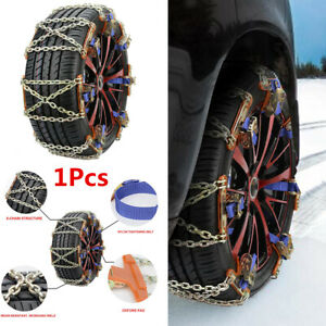 1pcs Steel Car Suv Snow Chains Wheel Tire Emergency Anti Skid Chains Accessories Fits Chevrolet