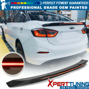 Fits 16 19 Chevy Cruze Sedan Abs Trunk Spoiler Long Led Oem Painted Color