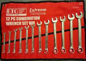 Six Point Metric Combination Extreme Torque Wrench Set 8 19mm Mm 6 Pt