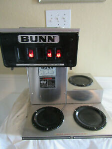 Bunn Cw Series Automatic Coffee Brewer Cw 15 Commercial 3 Burner Stainless Steel
