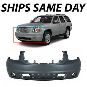 New Primered Front Bumper Cover Replacement For 2007 2014 Gmc Yukon Suv 07 14