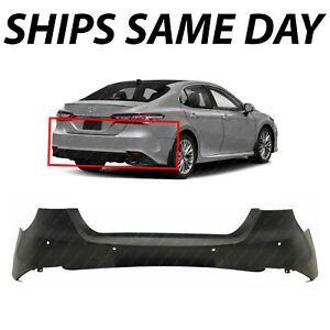 New Primered Rear Bumper Cover Replacement For 2018 2019 2020 Toyota Camry Xle