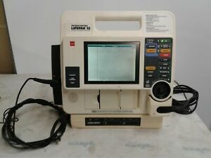 Lifepak 12 Biphasic 3 Lead Ecg Pacing Analyze Ecg With Leads