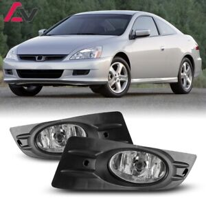 For Coupe Accord 06 07 Clear Lens Pair Bumper Fog Light Lamp wiring switch Kit