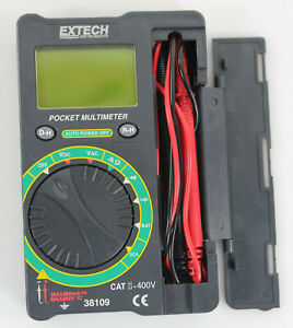Extech Pocket sized Digital Multimeter 4000 Count Model 38109 Manual